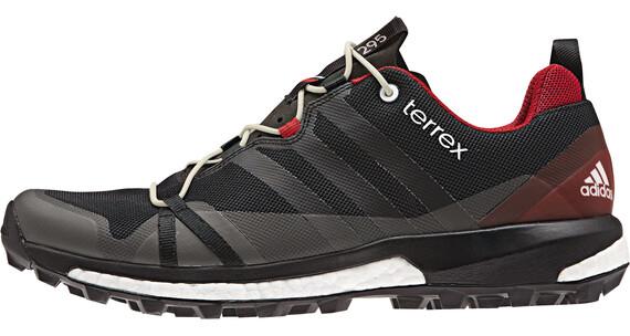 adidas Terrex Agravic Shoes Men dark grey/core black/power red